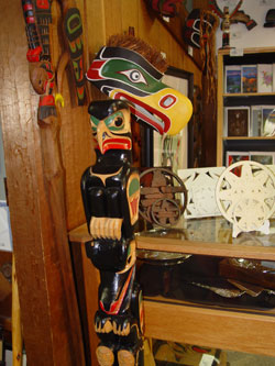 Eagle Mask and small totem