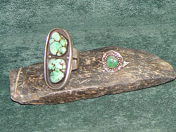 Rings with turquise stones